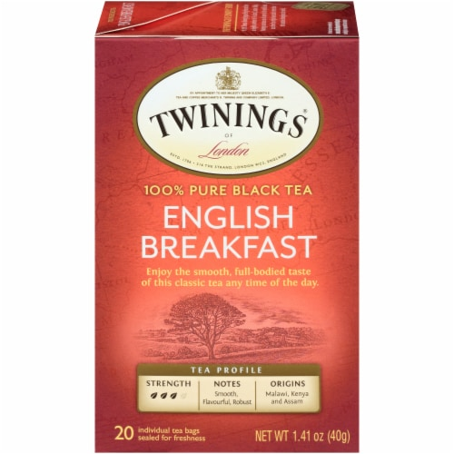 Twinings Of London English Breakfast Black Tea Bags Perspective: front