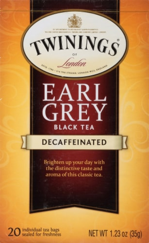 Twinings Of London Decaffeinated Earl Grey Black Tea Bags Perspective: front