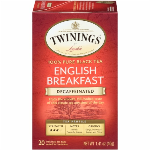 Twinings Of London Decaffeinated English Breakfast Black Tea Bags Perspective: front