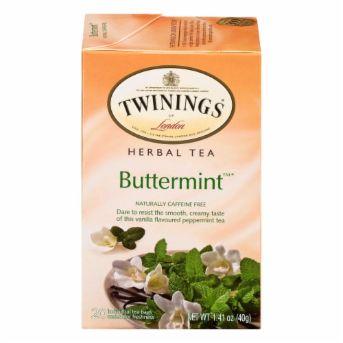 Twinings Of London Buttermint Herbal Tea Bags Perspective: front