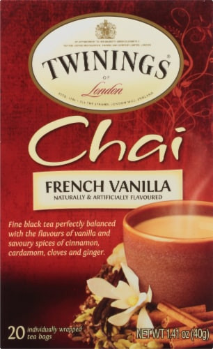 Twinings of London French Vanilla Chai Tea Bags Perspective: front