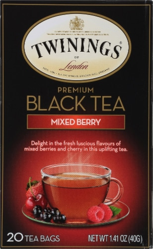 Twinings Of London Mixed Berry Premium Black Tea Bags Perspective: front