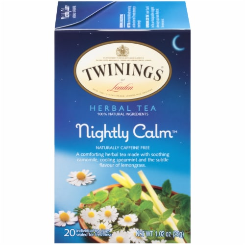 Twinings Of London Nightly Calm Herbal Tea Bags Perspective: front