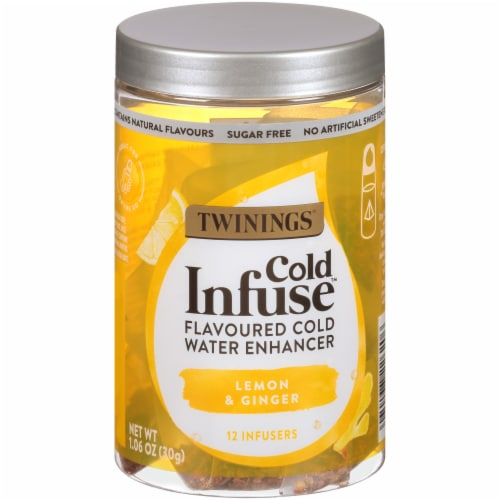 Twinings of London Cold Infuse Lemon Orange & Ginger Cold Water Enhancer Perspective: front