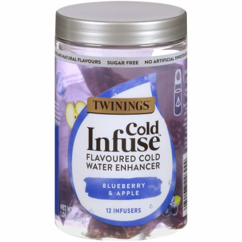 Twinings of London Cold Infuse Blueberry Apple & Blackcurrant Cold Water Enhancer Perspective: front