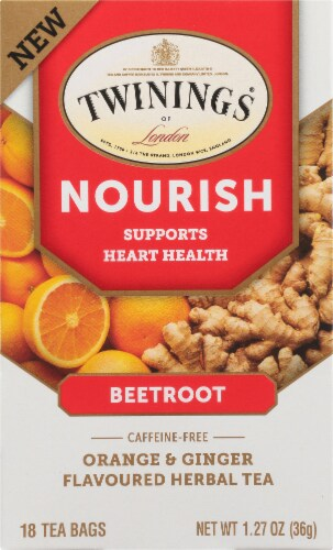 Twinings Of London Nourish Orange & Ginger Herbal Tea Bags Perspective: front