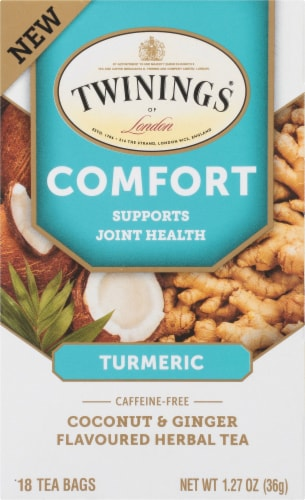 Twinings Of London Comfort Coconut & Ginger Herbal Tea Bags Perspective: front