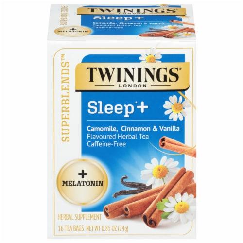 Twinings® of London Sleep+ Camomile Cinnamon & Vanila Flavored Herbal Tea Perspective: front