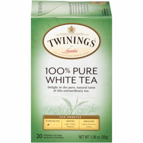 Twinings Of London 100% Pure White Tea Bags Perspective: front