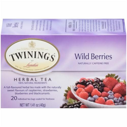 Twinings Of London Wild Berries Herbal Tea Bags Perspective: front