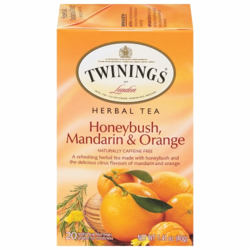 Twinings Honeybush Mandarin & Orange Herbal Tea Bags Perspective: front