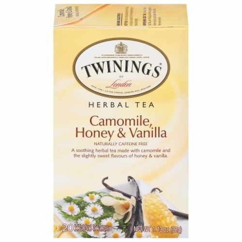 Twinings Of London Chamomile Honey & Vanilla Tea Bags Perspective: front