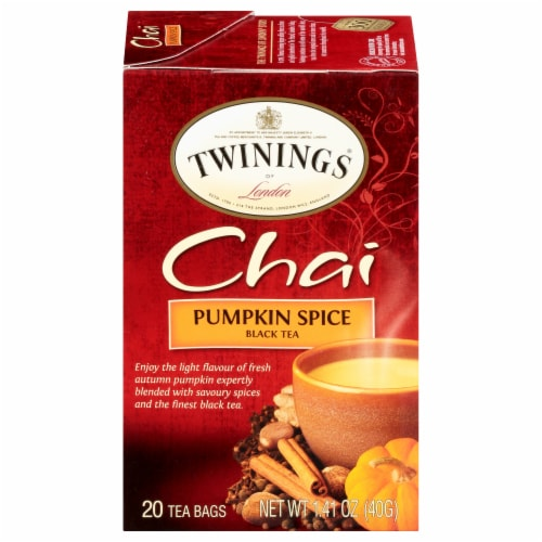 Twinings of London Pumpkin Spice Chai Tea Perspective: front