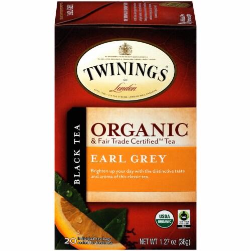 Twinings Of London Organic Earl Grey Black Tea Bags Perspective: front