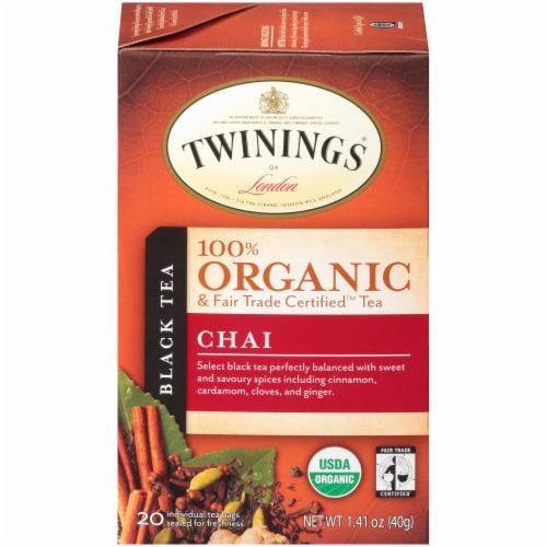 Twinings 100% Organic Chai Black Tea Perspective: front