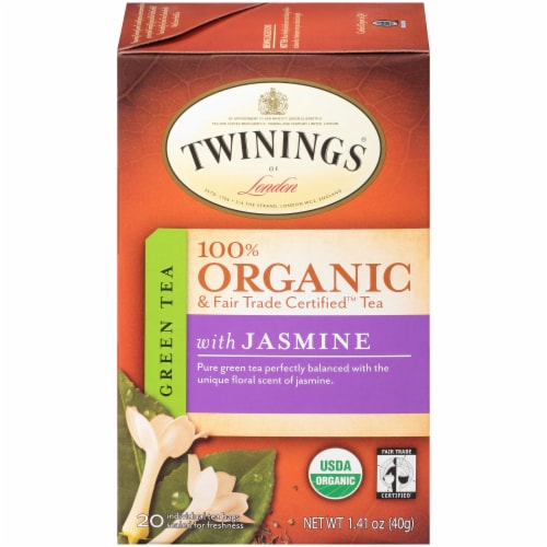 Twinings Of London Organic Jasmine Green Tea Bags Perspective: front