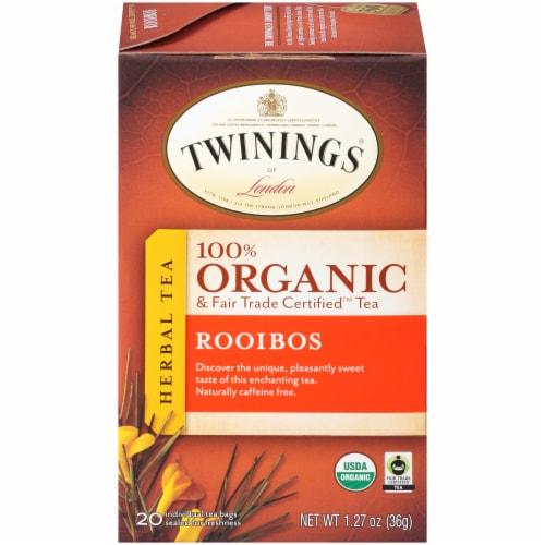 Twinings Of London Organic Rooibos Herbal Tea Bags Perspective: front