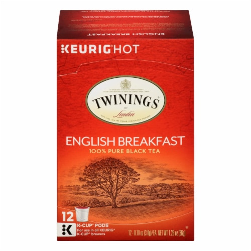 Twinings of London English Breakfast Tea K-Cup Pods Perspective: front
