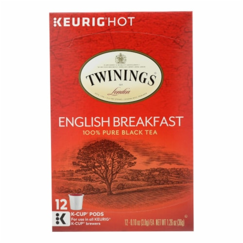 Twining's Tea Black Tea - English Breakfast - Case of 6 - 12 Count Perspective: front