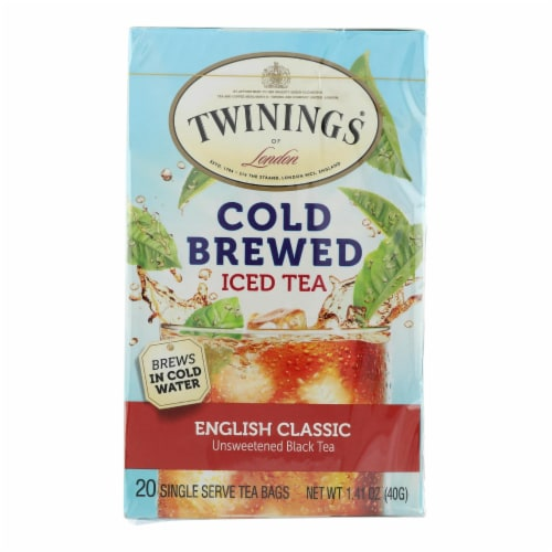 Twining's Tea Cold Brewed Iced Tea - English Classic - Case of 6 - 20 Bags Perspective: front