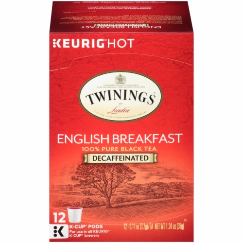 Twinings Of London Decaffeinated English Breakfast Tea K-Cup Pods Perspective: front