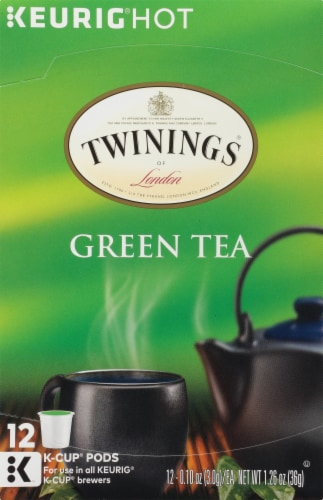 Twinings of London Green Tea K-Cup Pods Perspective: front