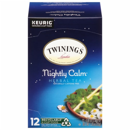 Twinings Nightly Calm Herbal Tea K-Cup Pods Perspective: front