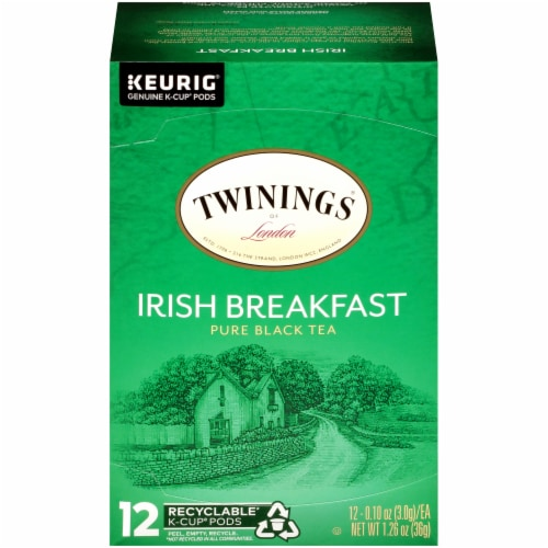 Twinings Of London Irish Breakfast Pure Black Tea K-Cup Pods Perspective: front
