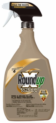 Round Up® Extended Control Weed & Grass Killer Plus Weed Preventer Perspective: front
