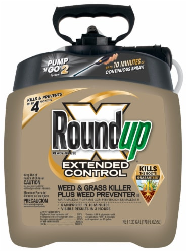 Roundup® Extended Control Weed and Grass Killer Plus Weed Preventer Perspective: front