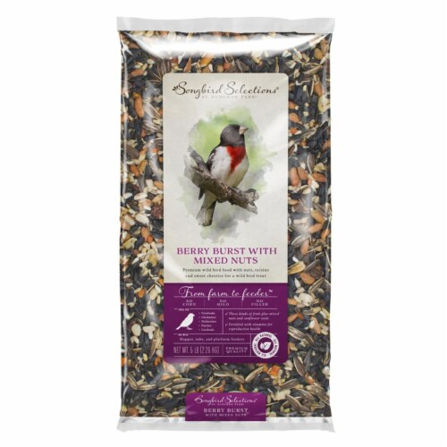 Global Harvest Foods 8039230 5 lbs Songbird Selections Chickadee & Nuthatch Wild Bird Food Fr Perspective: front