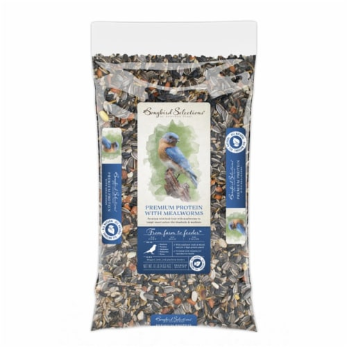 Audubon Park Songbird Selections Chickadee and Nuthatch Wild Bird Food Mealworm 10 lb. - Case Perspective: front