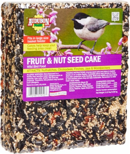 Audubon Park Fruit and Nut Seed Cake Wild Bird Food Perspective: front