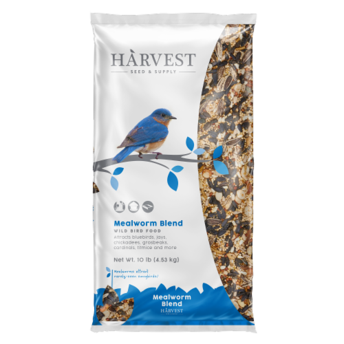 Harvest Seed & Supply Mealworm Medley Wild Bird Food Perspective: front