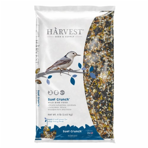 Harvest Seed & Supply Suet Crunch Wild Bird Food Perspective: front