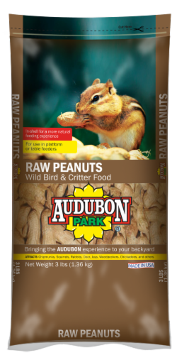 Audubon Park Raw Peanuts Bird Food Perspective: front