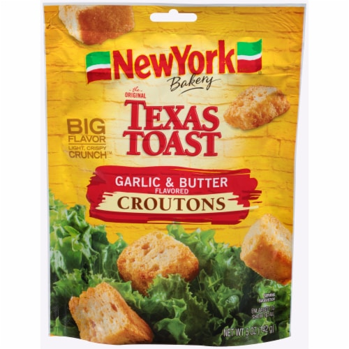 New York Bakery Texas Toast Garlic & Butter Croutons Perspective: front