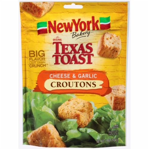 New York Bakery Texas Toast Cheese & Garlic Croutons Perspective: front
