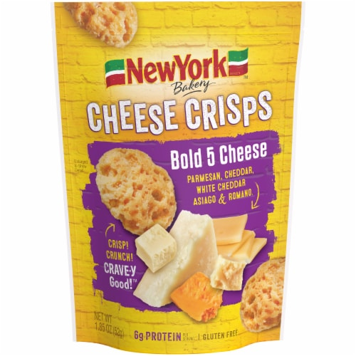 New York Bakery Bold 5 Cheese Cheese Crisps Perspective: front