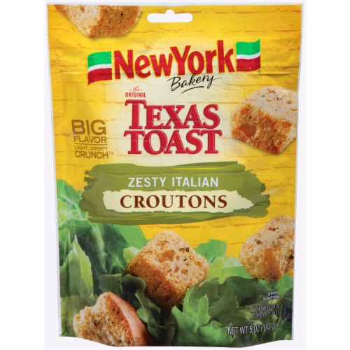 New York Bakery Texas Toast Zesty Italian Croutons Perspective: front