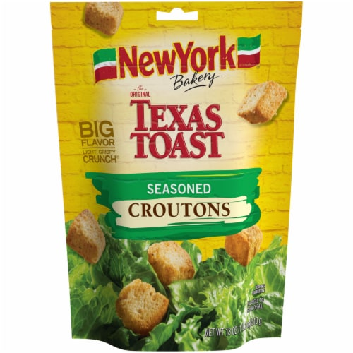 New York Bakery Texas Toast Seasoned Croutons Perspective: front