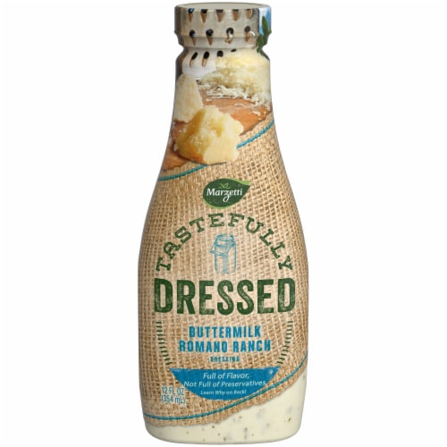 Marzetti Tastefully Dressed Buttermilk Romano Ranch Dressing Perspective: front