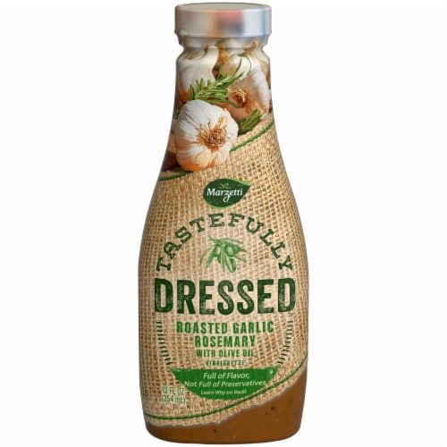 Marzetti Tastefully Dressed Roasted Garlic Rosemary with Olive Oil Vinaigrette Perspective: front
