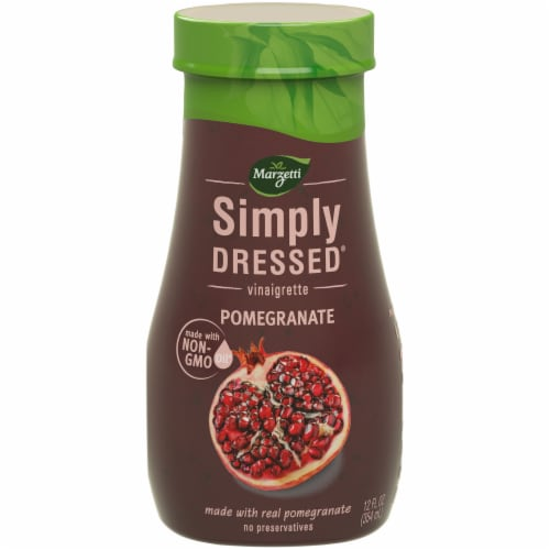 Marzetti Simply Dressed Pomegranate Viniagrette Dressing Bottle Perspective: front