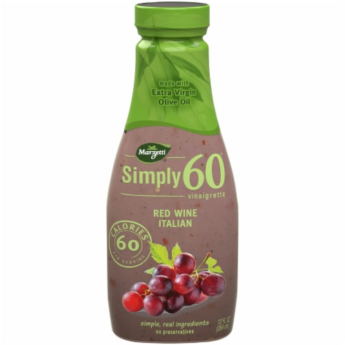 Marzetti Simply 60 Red Wine Italian Vinaigrette Dressing Perspective: front