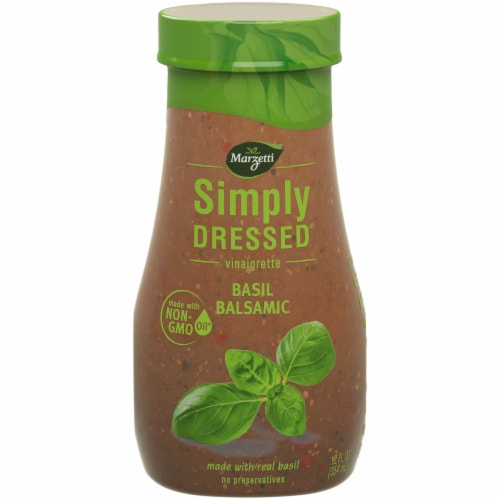 Marzetti Simply Dressed Basil Balsamic Vinaigrette Dressing Perspective: front
