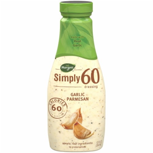 Marzetti Simply 60 Garlic Parmesan Dressing Perspective: front