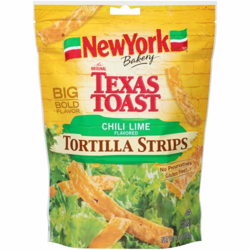 New York Bakery Chili Lime Tortilla Strips Perspective: front