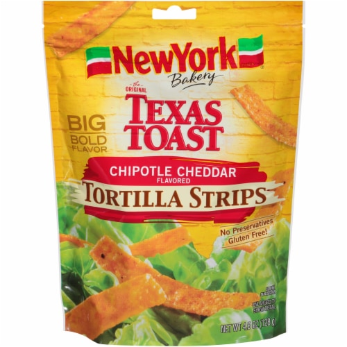 New York Bakery Chipotle Cheddar Tortilla Strips Perspective: front