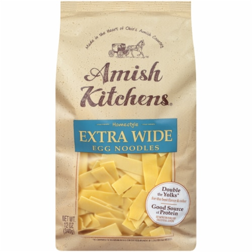 Amish Kitchens Homestyle Extra Wide Egg Noodles Perspective: front